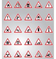 hazard signs set vector image