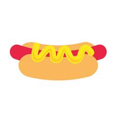 hot dog design vector image