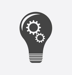 idea with light lamp bulb flat vector image