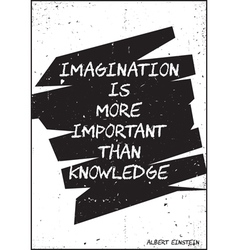 Imagination is more important than knowledge vector