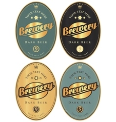 Labels for beer and brewery vector