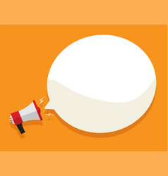 loud megaphone message template with blank empty vector image