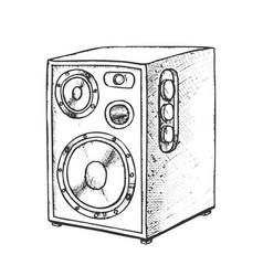 Loud speaker for listening music retro vector