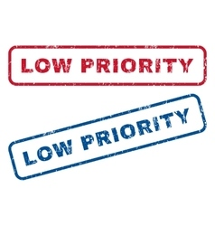 Low Priority Rubber Stamps vector