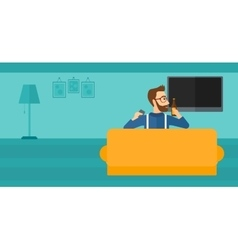 Man watching TV vector image