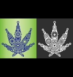 Marijuana cannabis leaf textured symbol vector