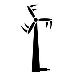 modern wind turbine icon simple style vector image