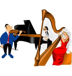 Musical trio vector