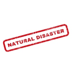 Natural Disaster Rubber Stamp vector image