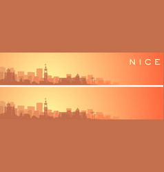 Nice beautiful skyline scenery banner vector