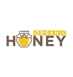 organic honey emblem vector image