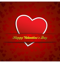 paper heart valentines vector image