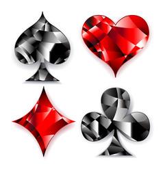 Polygonal symbols playing card vector