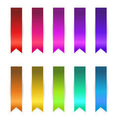 ribbons set vector image