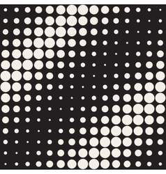 Seamless Black and White Circles Diagonal vector