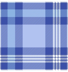 Seamless tartan pattern in blue and white vector