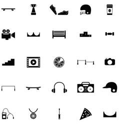 skateboard icon set vector image