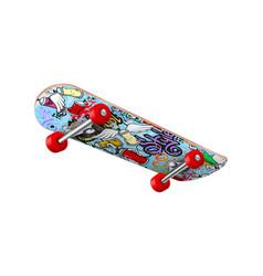 skateboard realistic vector image