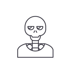 skeleton line icon concept skeleton linear vector image