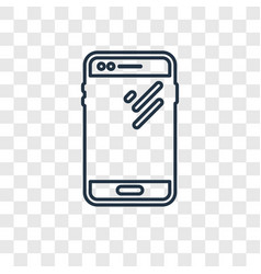 smartphone concept linear icon isolated on vector image