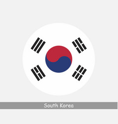 South korea round circle flag vector