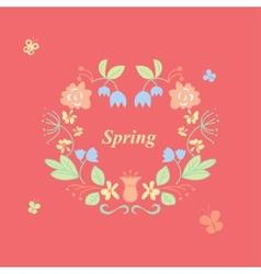 Spring wreath vector