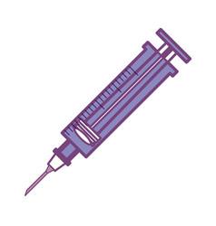syringe medical symbol vector image