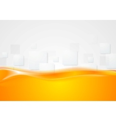 Tech wavy abstract background vector image
