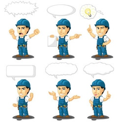 Technician or Repairman Mascot 17 vector image