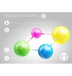 Template of page with four 3D-effect metaballs vector