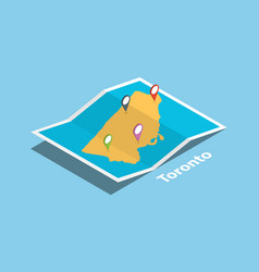 toronto ontario province explore maps vector image
