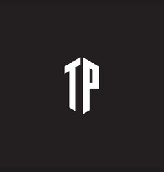 tp logo monogram with hexagon shape style design vector image