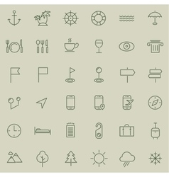 Travel tourism and weather icons set 2 vector image