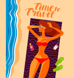 travel vacation or relaxation concept beautiful vector image