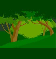 Trees forest scene vector