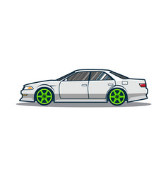 tuning japan car vector image
