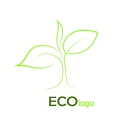 Verification Eco logo design template elements vector