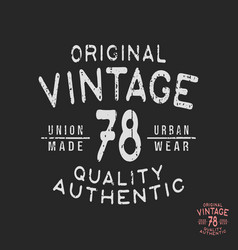 Vintage t-shirt stamp vector