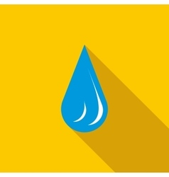 Water drop icon in flat style vector