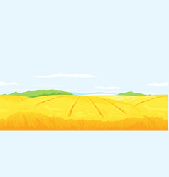 wheat field landscape background vector image