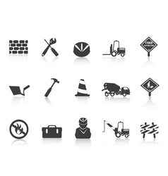 black Construction icon vector image