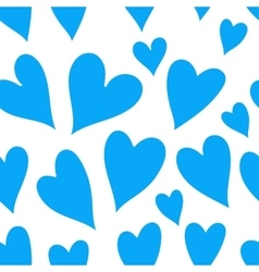 Blue heart seamless pattern vector image vector image