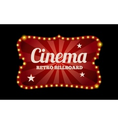 Cinema sign or billboard vector image vector image