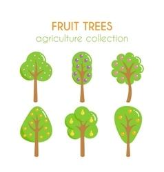 fruit trees Apple tree vector image