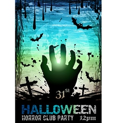 Halloween Fear Horror Party Background vector image