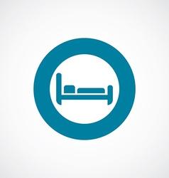 hotel icon bold blue circle border vector image