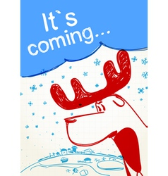 Its coming vector image vector image