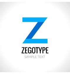 Letter Z abstract logo design template vector image