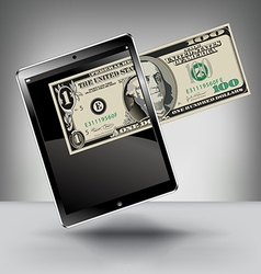 Money with a Touch Pad vector image vector image