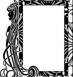 Ornamental frame in style Art Nouveau vector image vector image